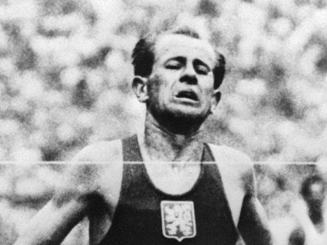 1952 Helsinki Olympic Games- Emil Zatopek