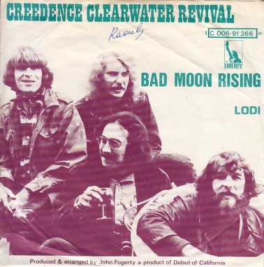 Image result for bad moon rising ccr single images