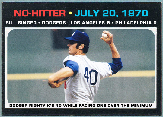 WHEN TOPPS HAD (BASE)BALLS!: NO-HITTERS SPECIAL SUB-SET: BILL ...